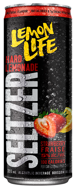 Lemon Life Seltzer - Strawberry flavour
